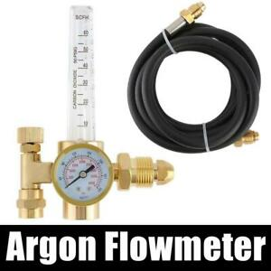 Argon Co2 Mig Tig Flow Meter Regulator Gas Welding Flowmeter 4000psi W Hose