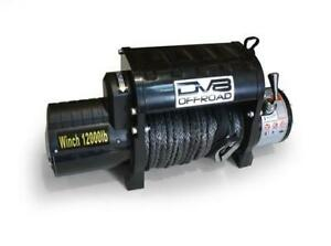 Dv8 Offroad Wb12sr 12000 Lb Winch W Synthetic Line Wireless Remote