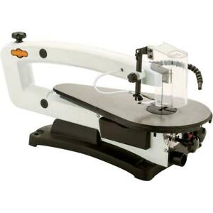 Shop Fox W1870 18 Inches Vs Scroll Saw With Led And Rotary Tool Kit