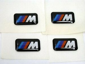 Bmw M Sport Wheel Emblem Badge Set 4 Sticker Decal