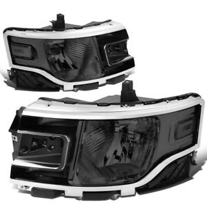 For 2013 2019 Ford Flex Left Right Side Oe Style Headlight Head Lamps Smoked