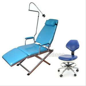 Dental Folding Chair Rechargeable Led Light Simple Type dentist Mobile Chair 26
