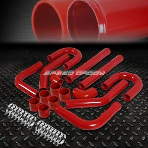 Universal 8pc 2 75 Aluminum Fmic Turbo Intercooler Piping coupler Diy Kit Red