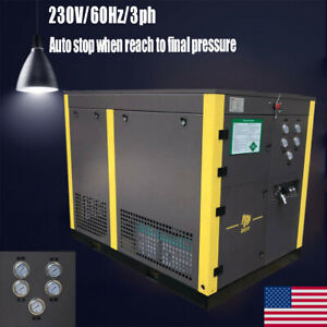 3600psi 10hp Cng Energy Saving Screw Air Compressor 3 phase For Industrial Us