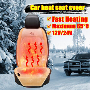 12v Car Seat Heated Cushion Cover Seat Heater Warmer Pad 3 Level Switch Kits