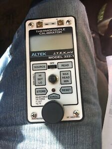 Altek Thermocouple Calibrator Model 322 1 3221 Used