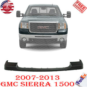 Front Bumper Upper Cover Pad Primed For 2007 2013 Gmc Sierra 1500
