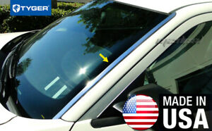 Fits 05 10 Chrysler 300 300c Dodge Stainless Front Windshield Deflector Trim 2pc