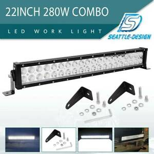 22inch 280w Led Work Light Bar Flood Spot Combo Fog Lamp Offroad Driving Truck
