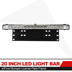 20inch Combo Beam Led Light Bar License Plate Light W Front License Plate Frame