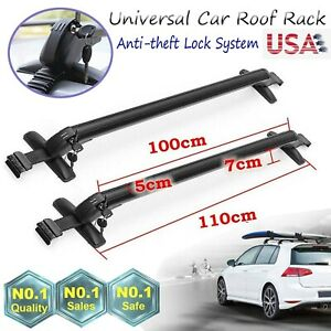 Universal Roof Rack Cross Bars Kayak Ski Snowboard Carrier For 4 Or 5 Door Cars
