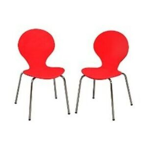 Kid s Desk Chair set Of 2 Color Red