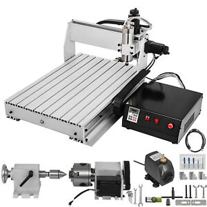 4 Axis Cnc 6040 Router 1000w 3d Wood Milling 4th Rotary Axis W Controller Usb