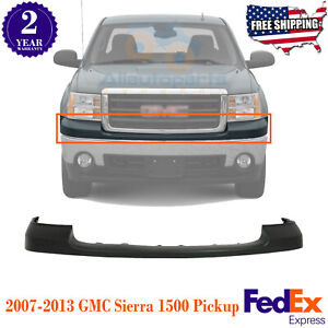 Front Bumper Upper Cover Pad Primed For 2007 2013 Gmc Sierra 1500 Pickup