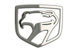 1992 2010 Dodge Viper Sneaky Pete Emblem 1pc Polished Stainless Steel
