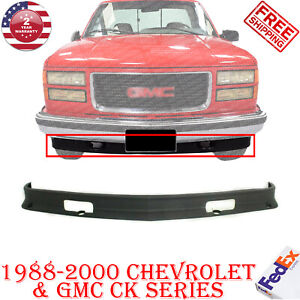 Front Lower Valance Primed W Tow Hook Holes For 1988 2000 Chevy Gmc Pickup