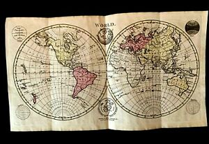 1700s Mappa Mundi The Map Of The World