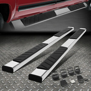 For 15 20 Ford F150 Crew Cab Stainless Steel 4 5 Side Step Bar Running Board