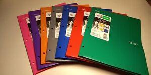 Mead Five Star Two Pocket Folder With Stay put Tabs no Prongs 24 lot Var Color