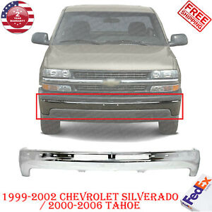 Front Bumper Chrome Steel For 1999 2002 Chevy Silverado 2000 2006 Tahoe