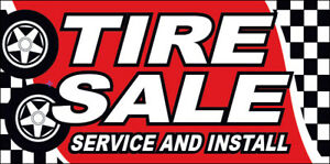 Tire Sale Service Install Vinyl Banner 20x48 Inch Auto Sign Rb