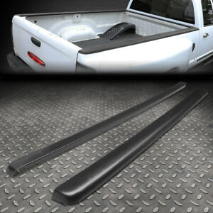 For 99 07 Silverado sierra 6 5ft Bed Satin Black Truck Rail Caps Cover Molding