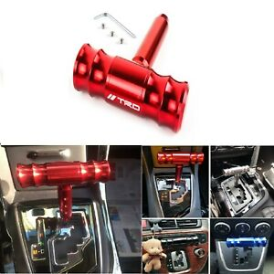 Trd Red Car Shift Knob Aircraft Joystick Transmission Racing Gear Shiftter