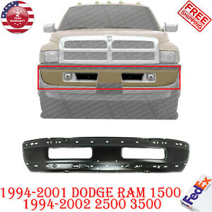 Front Bumper Primed Steel For 1994 2001 Dodge Ram 1500 1994 2002 2500 3500