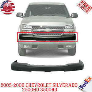 Front Bumper Upper Cover Textured For 2003 2007 Chevy Silverado 2500hd 3500