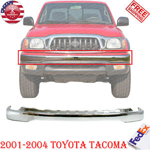 Front Bumper Face Bar Chrome Steel For 2001 2004 Toyota Tacoma Truck