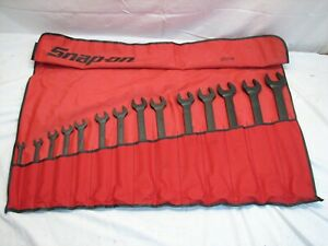 Set 14 Snap On Sae Standard Handle Combination Wrenches Industrial Goe