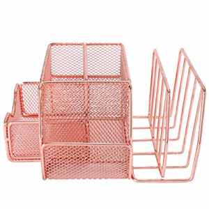 Mesh Office Supplies Desk Organizer Caddy And Storage With Drawer 2 Letter So