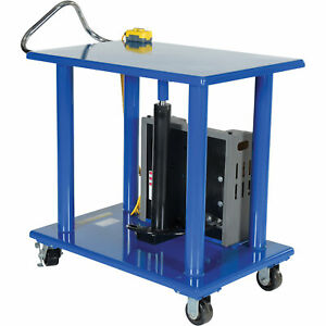 Vestil Dc Power Hydraulic Post Table 2 000 lb Capacity Model Ht 20 3036 dc
