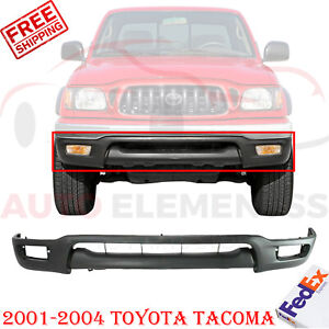 Front Lower Valance Primed W Fog Light Holes For 2001 2004 Toyota Tacoma