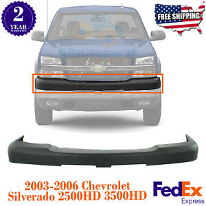 Front Bumper Upper Cover Black Textured For 03 07 Chevy Silverado 2500hd 3500hd