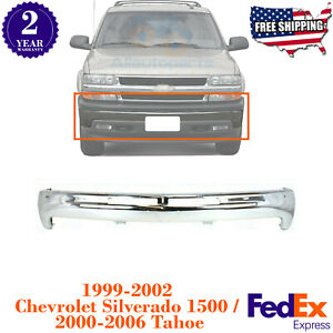 Front Bumper Chrome Steel Bar For 1999 2002 Chevy Silverado 2000 2006 Tahoe