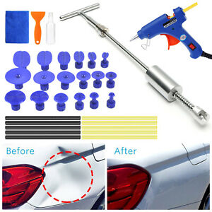 Auto Paintless Dent Removal Tools Kits Slide Hammer T Puller Glue Tabs Glue Gun