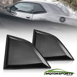 For 2008 2017 Dodge Challenger Gt Glossy Black Side Window Louvers Left Right