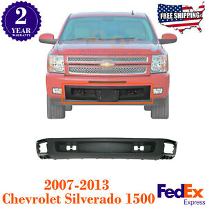 Front Bumper Lower Valance W O Tow Hook Holes For 07 2013 Chevy Silverado 1500