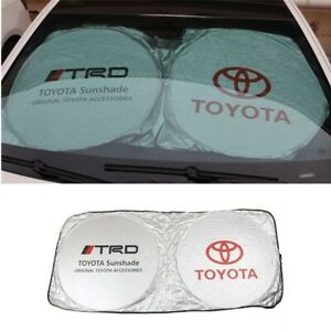 Jdm Trd Sunshade Windshield Foldable Cover Visor Uv Heat Isolate
