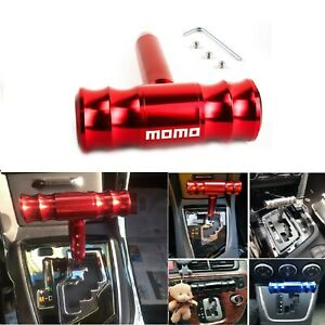 Momo Red Car Shift Knob Aircraft Joystick Transmission Racing Gear Shiftter