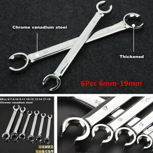 6x Metric Flared Nut Spanner Wrench Set For Brake Air Conditioning Diesel Lines