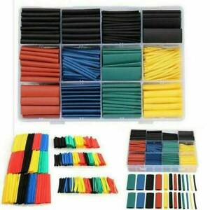 530x Assortment 2 1 Heat Shrink Wire Wrap Tubing Electrical Connection Cable Set