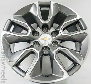 2019 Chevy Suburban Silverado Tahoe Gunmetal Machined 20 wheels Rims Lugs 5916
