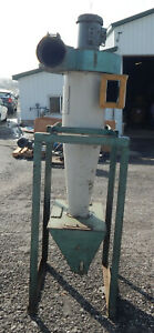 Cyclone Dust Collector On Stand With Marathon Electric D393 Motor 3450 2850rpm