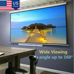 100 160 16 9manual Pull Down Retractable Projector Screen Home Theater Movie