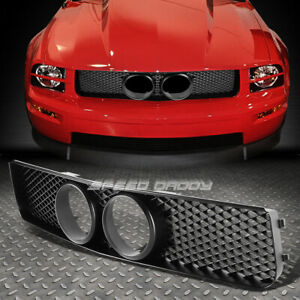 For 05 09 Pony Mustang Gt Shelby Style Black Front Sport Replacement Grill Guard