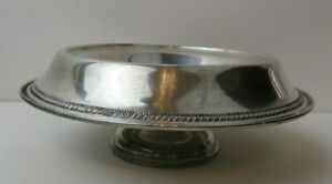 Sterling Silver Wide Rim Pedestal Bowl Low Compote 2 1 2 By 7 Weight
