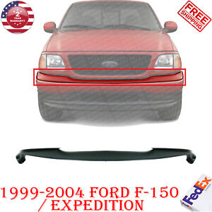 Front Bumper Upper Pad Primed Plastic For 1999 2004 Ford F 150 Expedition