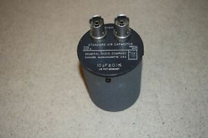 general Radio Standard Air Capacitor Type 1403 g 10 Pf 0 1 57
